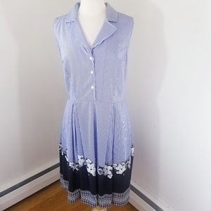 2/$65 Eshakti striped shirtdress